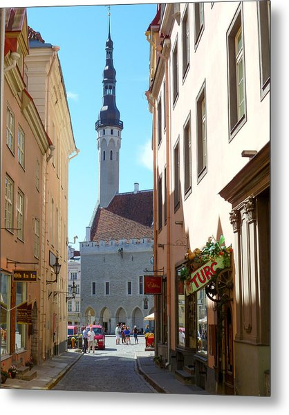 Tallinn City Hall Metal Print