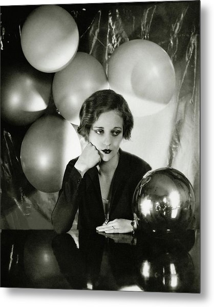 Tallulah Bankhead Surrounded By Balloons Metal Print