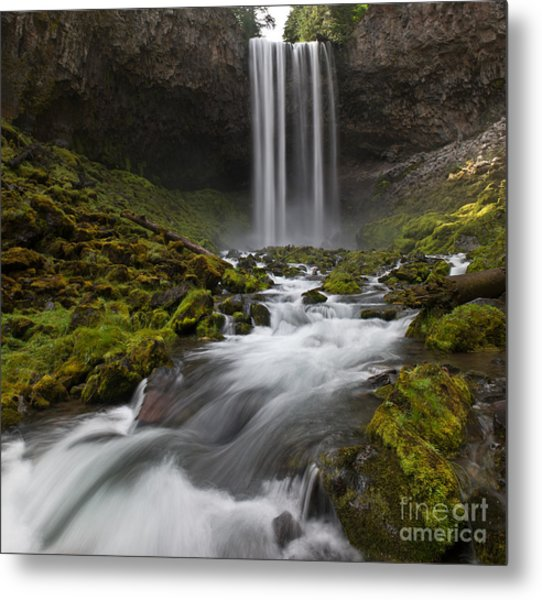 Tamawanas Falls In Summer Metal Print by Jackie Follett
