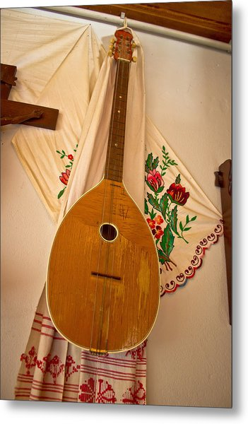 Tamburica Croatian Traditional Music Instrument Metal Print