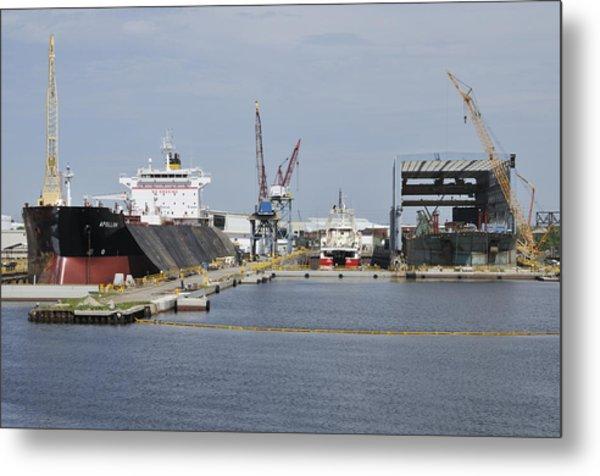 Tampa Shipyard Metal Print