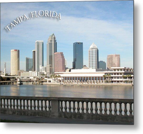 Tampa Skyline Metal Print