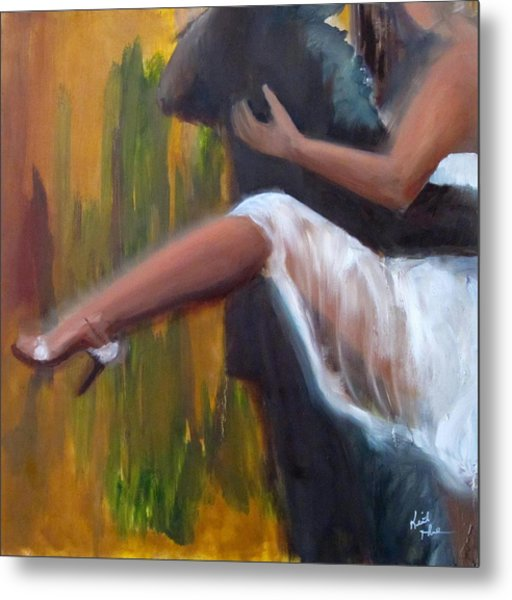 Tango On The Piazza Metal Print