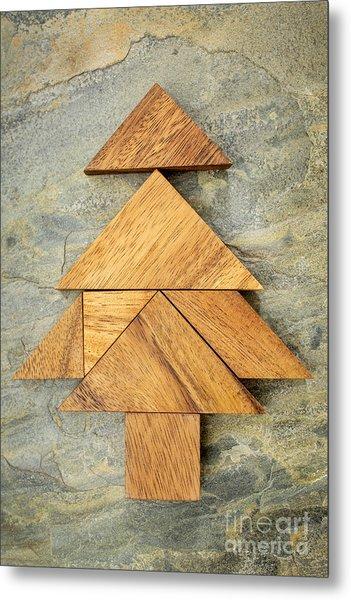 tangram Christmas tree Metal Print