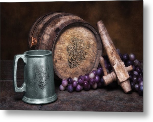 Tankard Of Drink Still Life Metal Print
