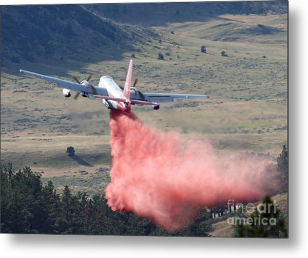 Tanker 45 Dropping On Whoopup Fire Metal Print