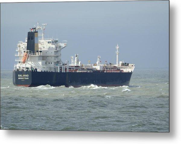 Tanker Heading At Sea Metal Print