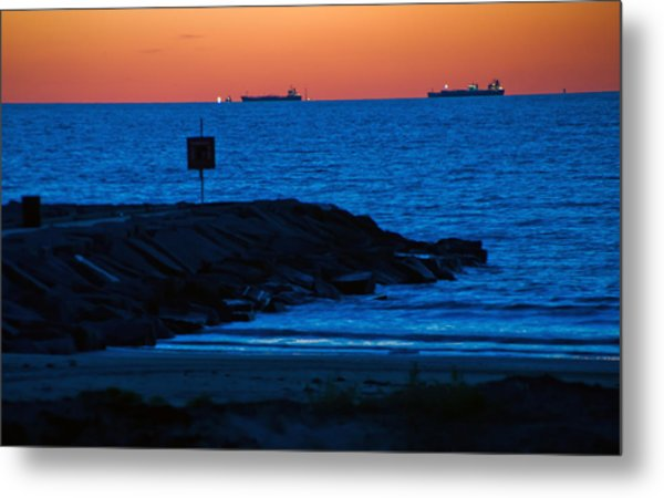 Tanker Sunrise Metal Print