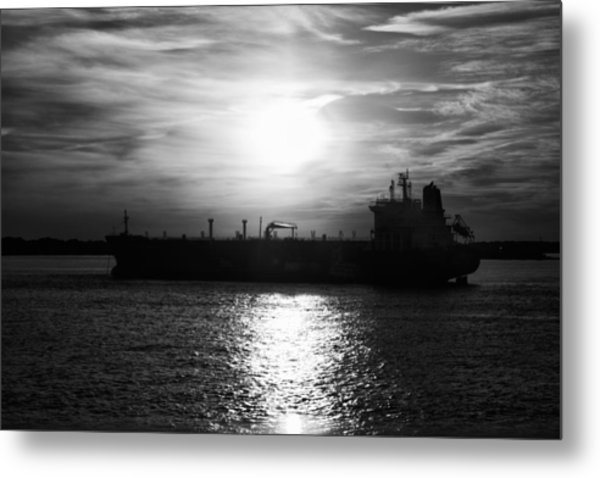 Tanker Twilight Metal Print