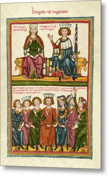 Tannhauser, A 13th Century  Minnesinger Metal Print by Mary Evans Picture Library