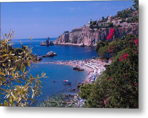 Taormina Beach Metal Print