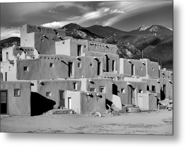 Taos Pueblo North Metal Print