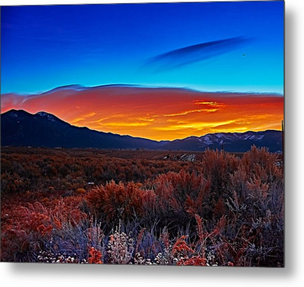 Taos Sunrise X Metal Print