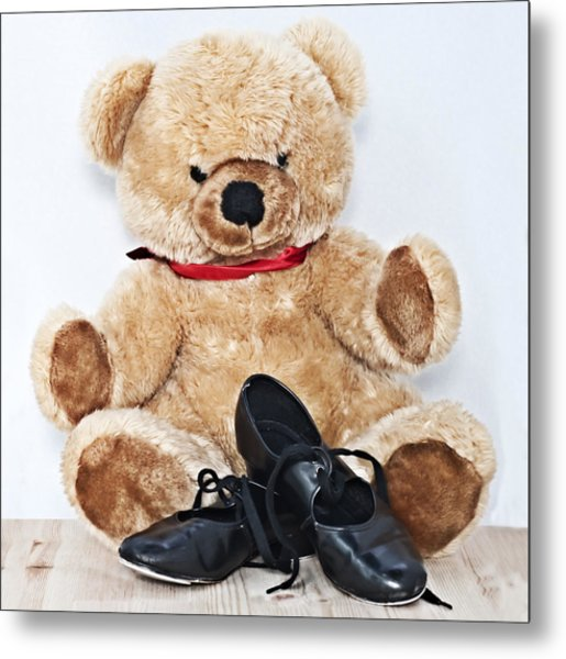 Tap Dance Shoes And Teddy Bear Dance Academy Mascot Metal Print