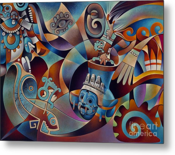 Tapestry Of Gods - Tlaloc Metal Print