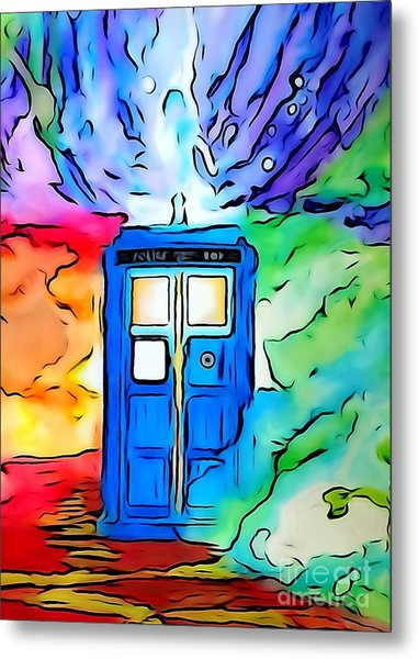 Tardis Illustration Edition Metal Print