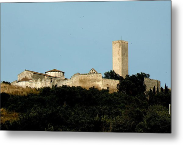Tarquinia Landscape With Tower Metal Print