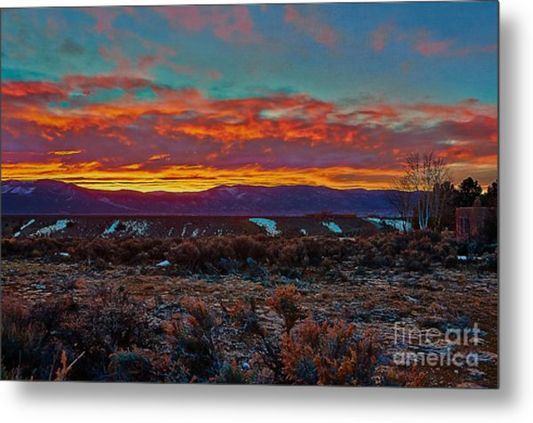 Taos Sunrise Metal Print