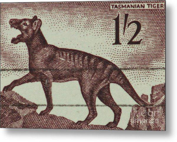 Tasmanian Tiger Vintage Postage Stamp Metal Print