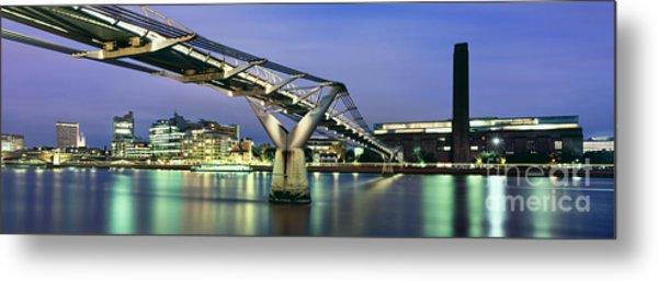 Tate Modern And Millennium Bridge Metal Print