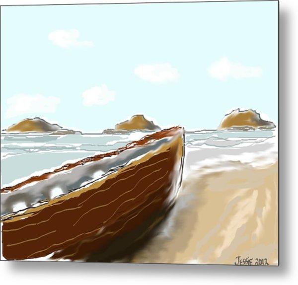Tattered Old Boat #2 Metal Print