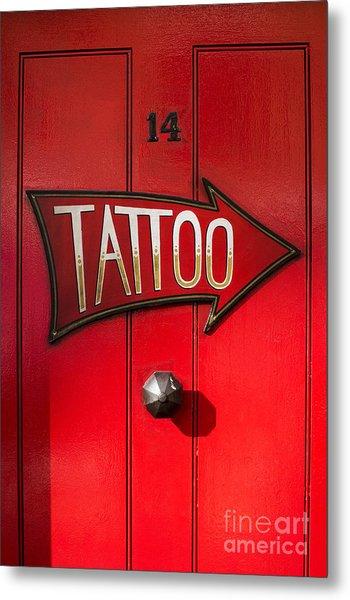 Tattoo Door Metal Print
