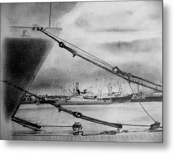 Tauranga Port New Zealand Metal Print