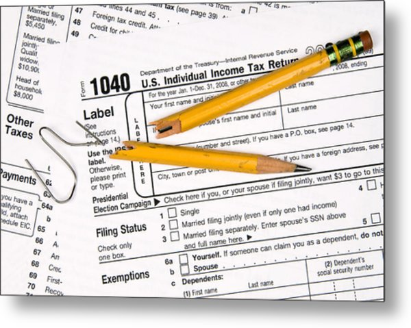 Tax Forms And Frustration Metal Print