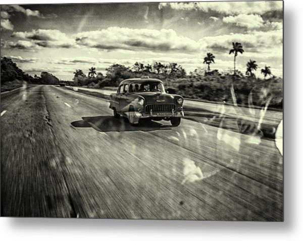 Taxi Havana Metal Print