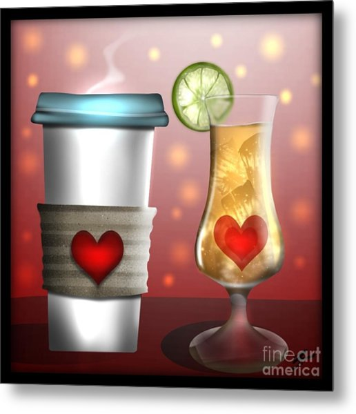 Tea And Coffee Metal Print