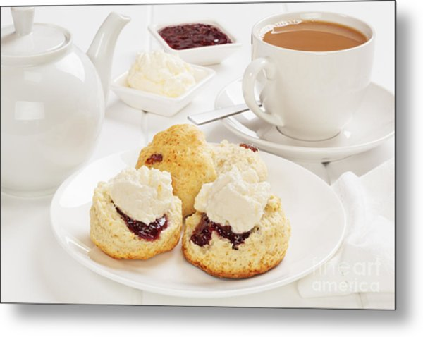 Tea And Scones Metal Print