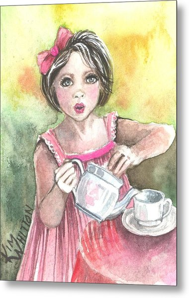Tea Granny Metal Print by Kim Sutherland Whitton