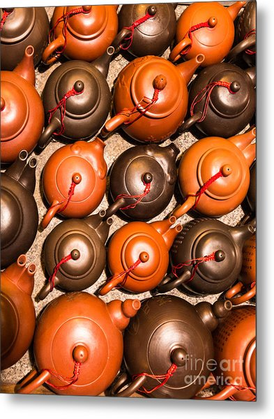 Tea Pots Metal Print