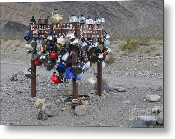 Teakettle Junction, California Metal Print