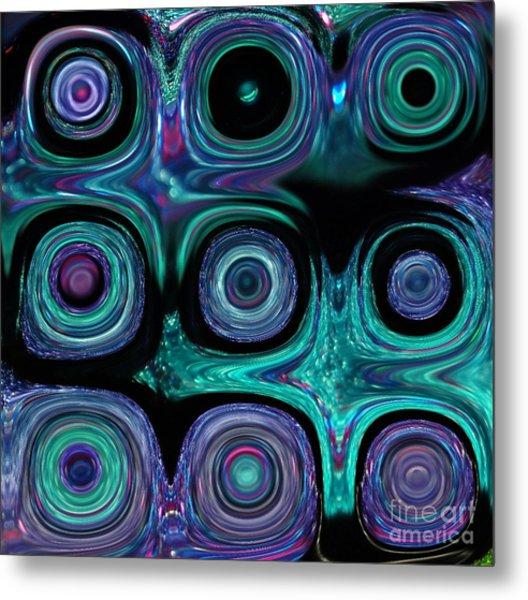 Teal And Purple Abstract B  Metal Print