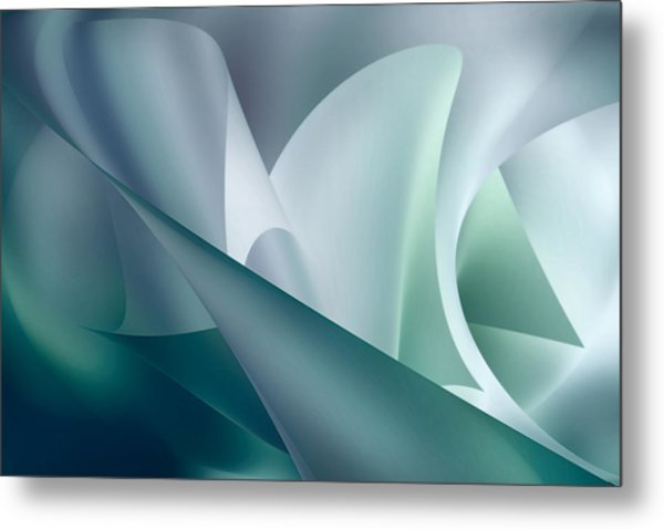 Teal Beam Metal Print