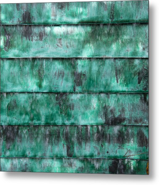 Teal Water Panels Metal Print