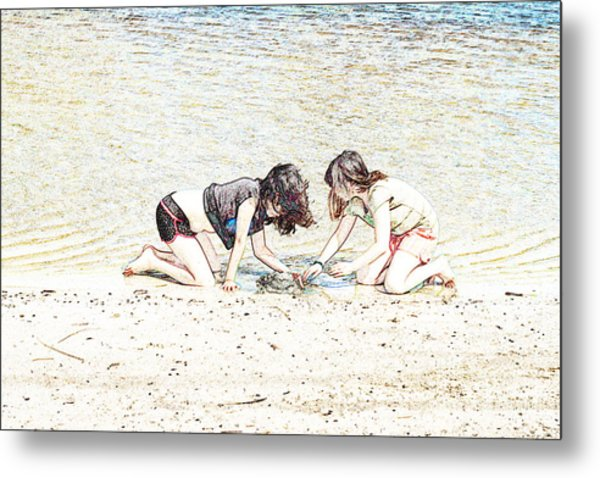 Team Work Metal Print