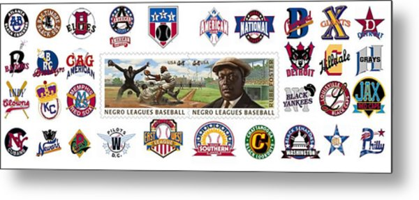 Teams Of The Negro Leagues Metal Print by Mike Baltzgar