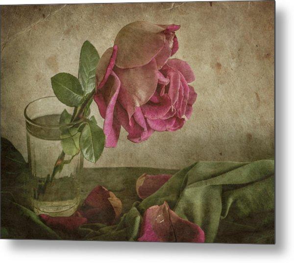 Tear Of Rose Metal Print