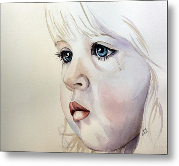 Tear Stains Metal Print