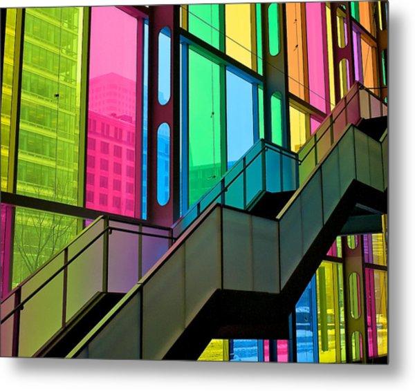 Technicolour Stairway Metal Print