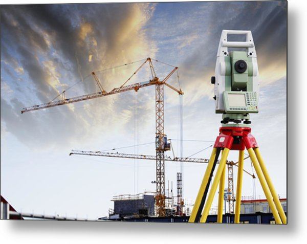 Technology And Construction Metal Print