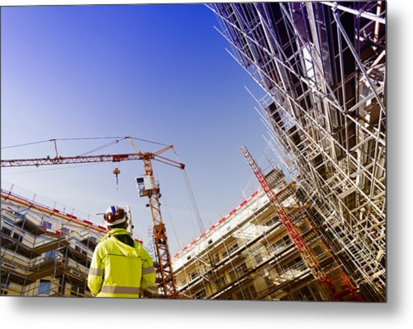 Technology And Construction Instrument Metal Print