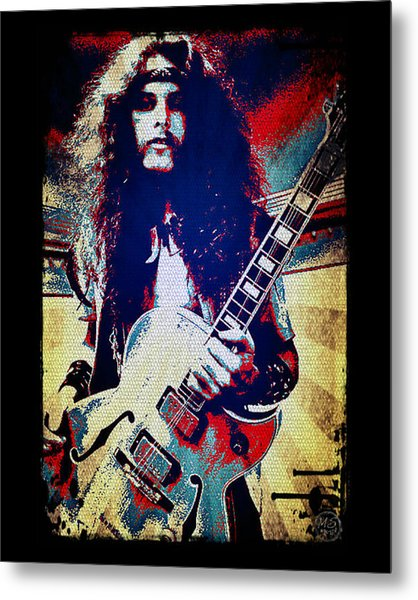 Ted Nugent - Red White And Blue Metal Print