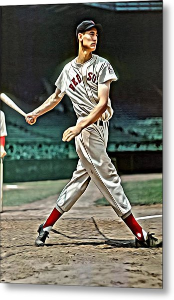 Ted Williams Painting Metal Print