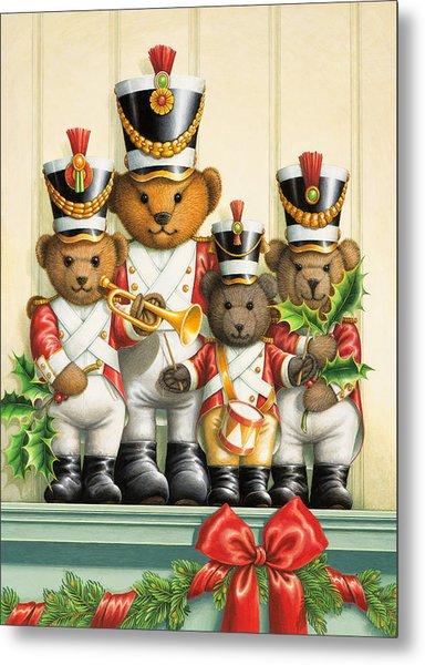 Teddy Bear Band Metal Print