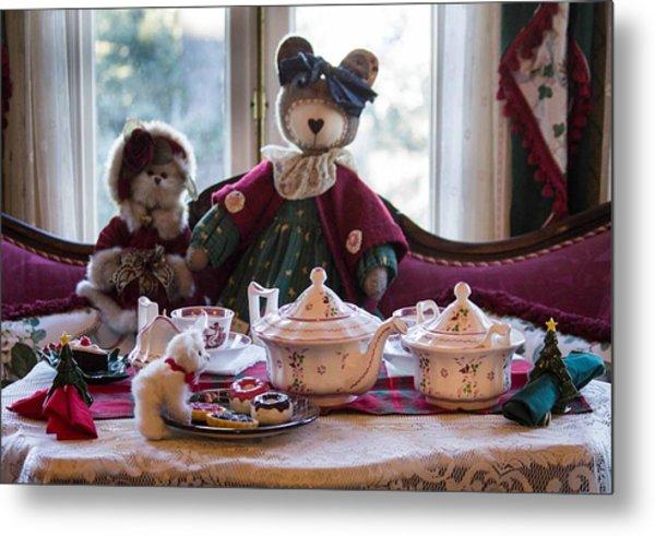 Teddy Bear Tea Party Metal Print