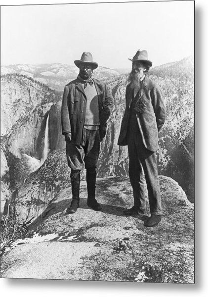 Teddy Roosevelt And John Muir Metal Print