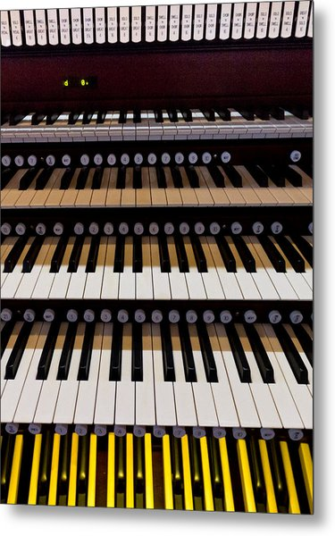 Teeth Of An Instrument Metal Print